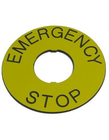 Zensor ESP-22-60 emergency stop label