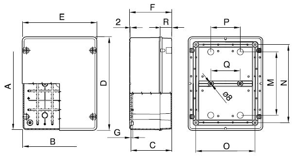 44CE plain dimensions