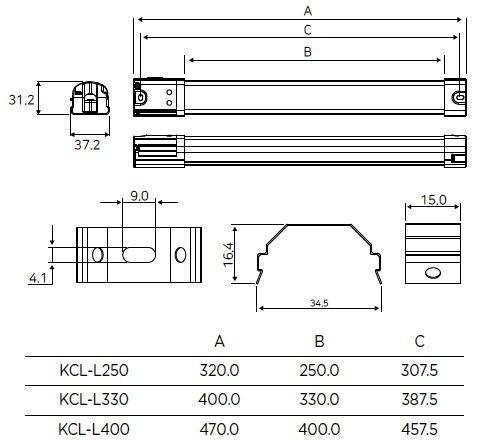 KPL-L dimensions