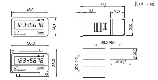 LC1 LT1 dimensions