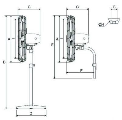 SP3 fan dimensions